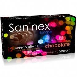 SANINEX PRESERVATIVOS LISO AROMA A CHOCOLATE 12 UDS
