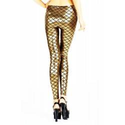 QUEEN LINGERIE LEGGING GOLD METALLIC